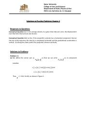 Solutions for PP2 PHYS 110 Fall 2016