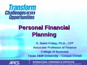 APICS Financial Planning Presentation -1