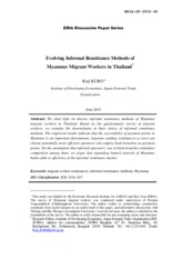 276613701-Evolving-Informal-Remittance-Methods-of-Myanmar-Migrant-Workers-in-Thailand