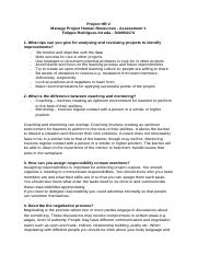 Felippe Arruda_S40054174_Manage Project Human Resources – Assessment 1.docx