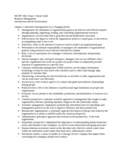 MGMT 3661 Exam 1 Study Guide