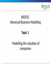 Topic 1 Valuation and Analysis in a Market Context (1).pptx