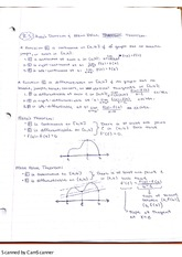 Rolle's Theorem and Mean Value Theorem