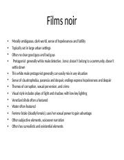 Films noir elements