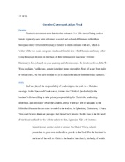 Gender Communication Final