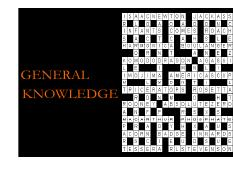 Lecture 21-22 Cognition (General Knowledge)