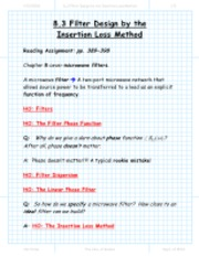 section_8_3_Filter_Desigin_by_the_Insertion_Loss_Method_present