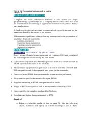 ACCY 111 tutorial task chapter 2