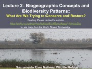Lecture 2 - Biogeographic Patterns