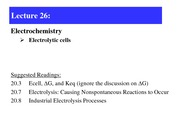 Lecture 26-electrolytic cell
