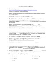 100 population genetics calculations worksheet answers chapter 16 population genetics and. Black Bedroom Furniture Sets. Home Design Ideas