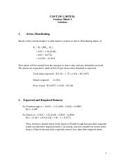COST OF CAPITAL  Problems Sheet 1 SOLUTIONS.doc