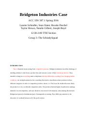 bridgeton business situation study