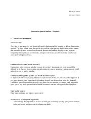 Persuasive Outline - Template f