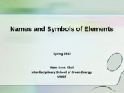 name and symbol of elements_Nam Soon Choi1