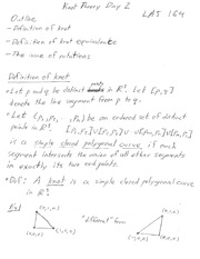 Lecture 1 Notes