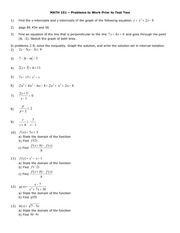 Exam B on Applied College Algebra