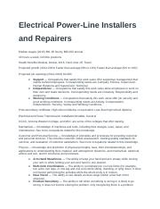 Electrical Power-Line Installers and Repairers