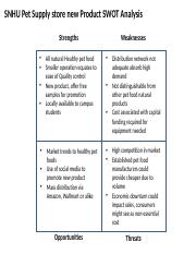 swot analysis of a store