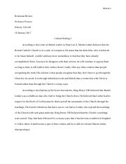 Critical Writing 1