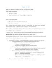 Entry and Exit study guide