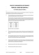 FOF Topic 8 Tutorial Questions