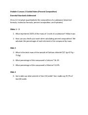 Honors Chemistry Module 5 Lesson 2 Guided Notes.doc