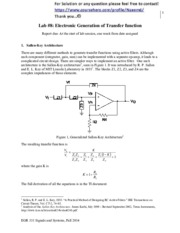 Lab8_FA14 - Electronic Generation of Transfer function