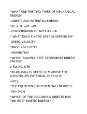 WHAT ARE THE TWO TYPES OF MECHANICAL ENERGY.docx