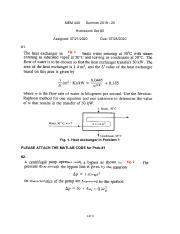Mem 440 Thermal Systems Analysis Drexel University
