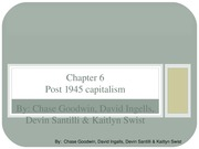 Chapter 6 - Post 1945 capitalism