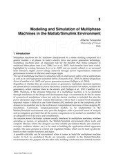 Modeling and Simulation of Multiphase Machines in the Matlab Simulink Environment