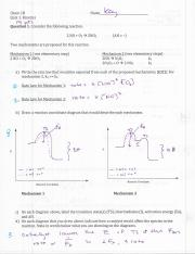 Chem 1B - F14 - Quiz 1 KEY
