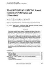 Guzzo-1996-Teams in Organizations