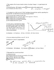 Physics 101 Practice Tests 2011