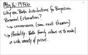 Lecture 16 on Bayesian Binomial Estimation