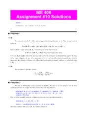 Assignment 10 Solution