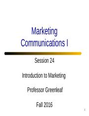 Session 24 - Communications 1