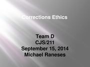 Corrections Ethics