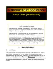Social Class Stratification Sociology.docx