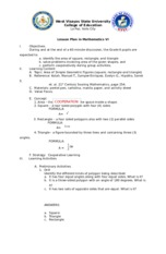 lesson plan in Math 6