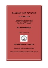 BA Economics - VI Sem. Additional Course course -Banking and Finance