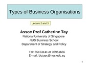 nus - lecture 2 & 3 - business organizations - aug 11