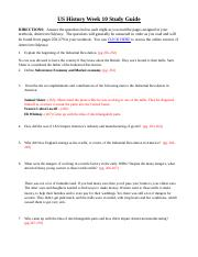 US History Week 10 Study Guide.docx
