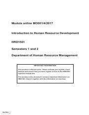 Study Guide Intro to HRD