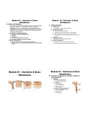 Module 9 - Nutrients & Bone Metabolism (4 slides per page)