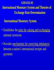 GEB 6365-05 IMS and Exchange Rate Determination Theories.PPT