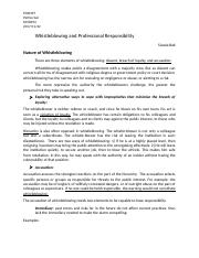 Whistleblowing and Professional Responsibility.docx