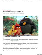 Rovio plans IPO after success of 'Angry Birds' film.pdf
