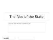 P3SC_The Rise of the State